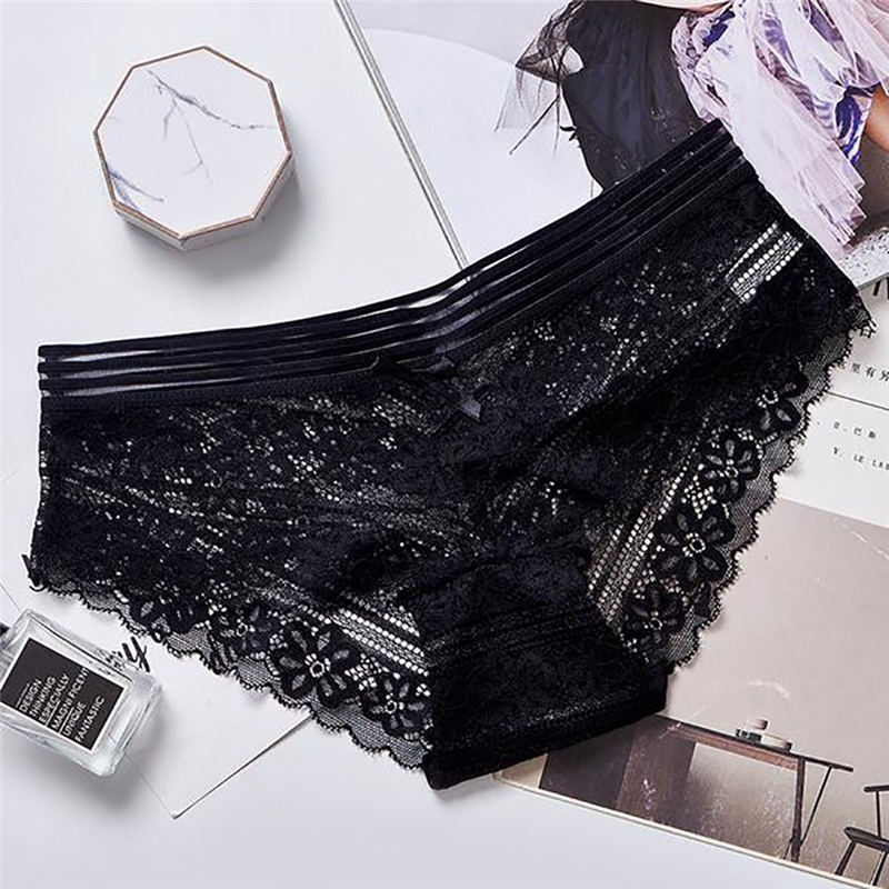 Hot Sale Autumn Mid-Rise Lace Solid Color Padded Seamless Trendy Underwear Panties Underwear Women's Nylon Briefs Bragas Mujer