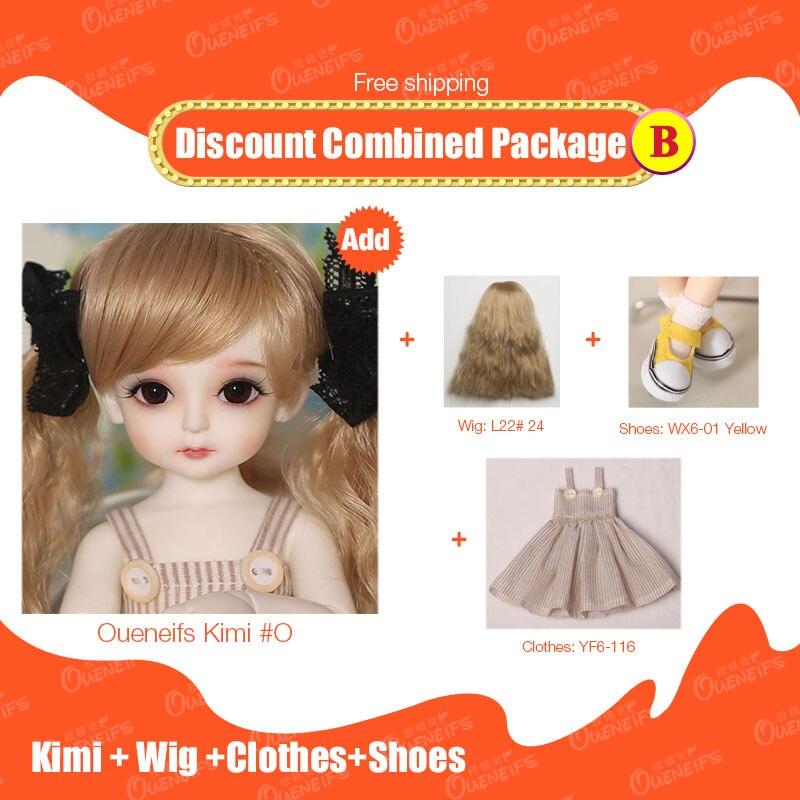 Бесплатная доставка Скидка комбинированная посылка Littlefee Ante Fairyland/Kimi/Minifee Chloe 1/8 1/6 1/4 BJD SD куклы из смолы OUENEIFS