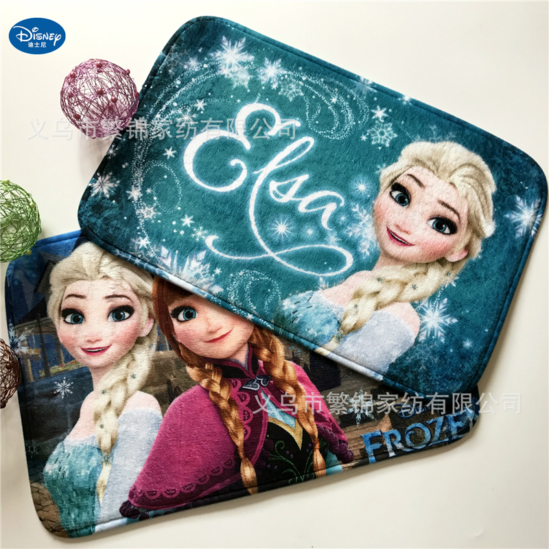 Children Cartoon Frozen Mat 38x58cm Door Mat Bathroom Mat Kitchen Kids Boys Girls Crawling Game Mat Bedroom Carpet