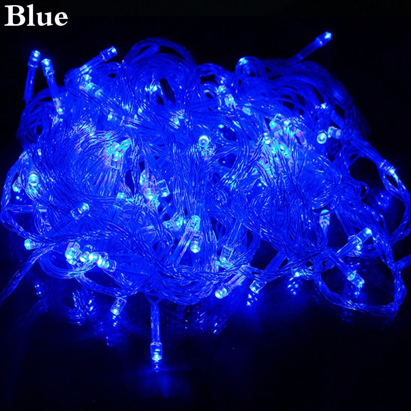 Outdoor Home 100 LED 10M String Fairy Lights Wedding Garden Party Xmas Tree Christmas Holiday Light Event Hotel Decoration Lamp
