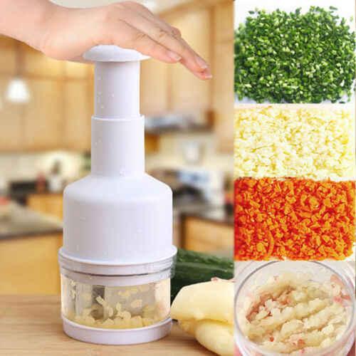 1 個チョッパープレス野菜食品オニオンチョッパーニンニクスライサーピーラーダイサーミンサー台所調理ツール