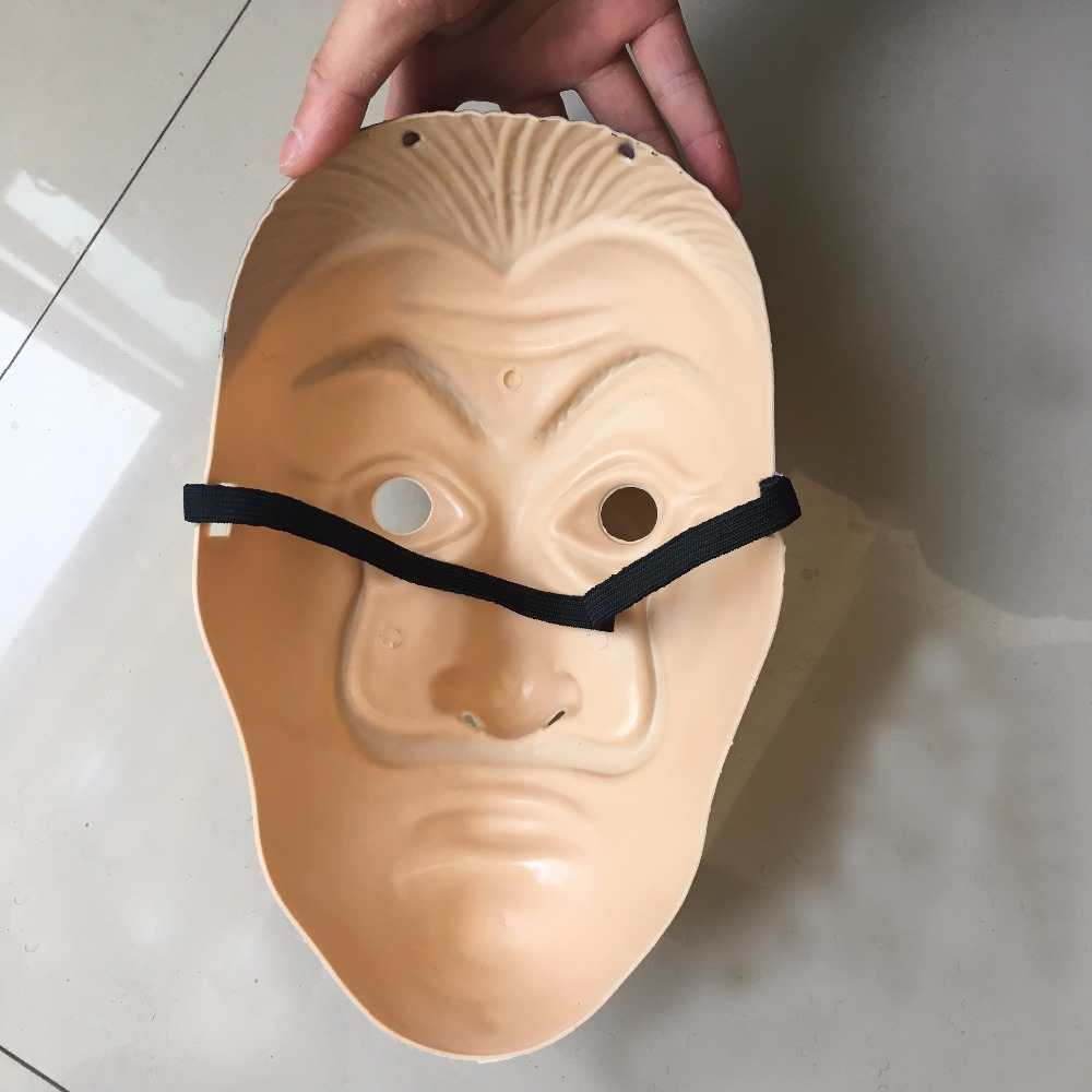 Salvador Dali Masks 2018 Hot Sale La Casa De Papel Clown Face Cosplay ABS Masks Halloween Party Masquerade Props4