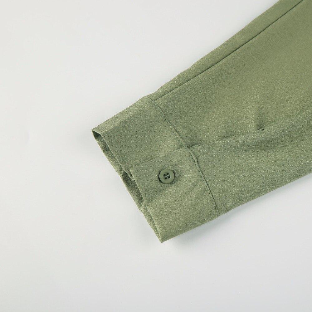 Kissmilk Plus Size Women Army Green Choker Loose Shirt Dress Button Down  Off Shoulder Boyfriend Club Dress Casual Large Dress -in Dresses from  Women s ... 24f4350ae5a0
