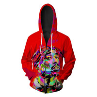 3D Sweatshirts Men Women Hoodies Zipper Unisex Cool Printed Tracksuits Casual Pullover 6XL Plus Size Jacket