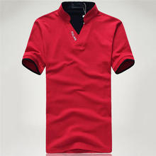 Men Shirts Casual Stand Collar Shirt Short Sleeve Slim Fit Solid Polo Shirt 2017 New Fashion 0392