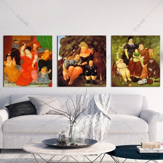 Online Shop Botero Family Artwork Canvas Art Print Painting Poster ...