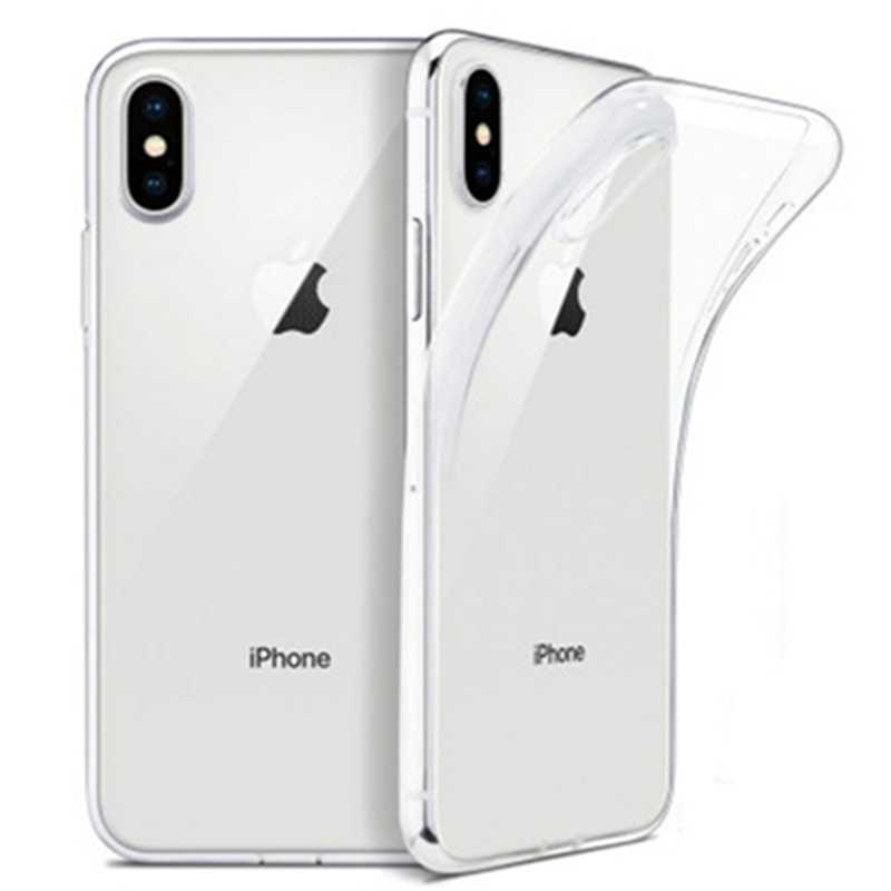 Ultra Tipis Jelas Lembut TPU Funda For iPhone X X 8 7 6 6S Plus Case Transparan iPhone 11 Pro Max XR Se 2 2020 TPU Cover