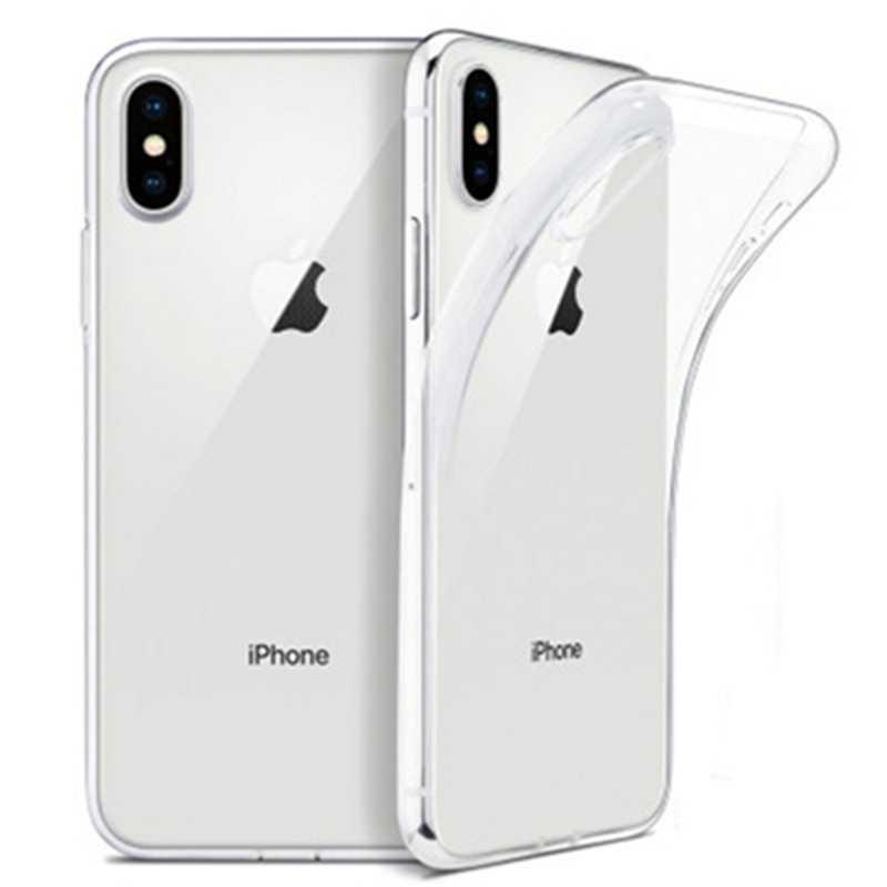 Cubierta de TPU protectora suave transparente ultrafina para iPhone X XS 8 7 10 6 s Plus de lujo caso para iPhone XR 8 Coque Fundas Capa