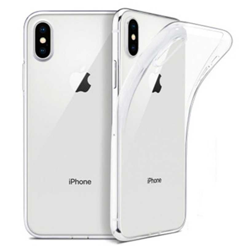 Funda de TPU suave transparente ultradelgada para iPhone X XS 8 7 6 6S Plus, Funda transparente para iPhone 11 Pro Max XR SE 2 2020, Funda de TPU