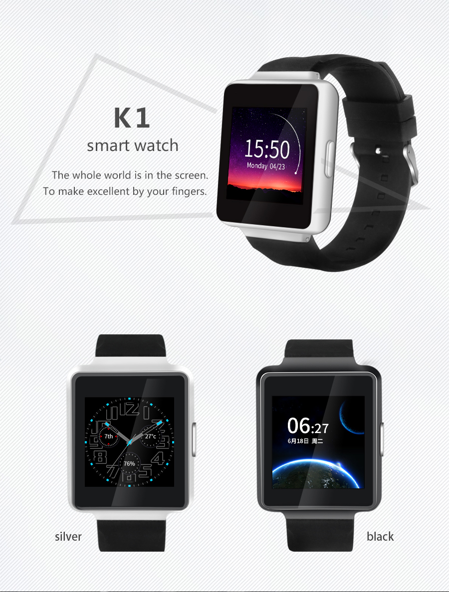 New IMax K1 Android 5.1 OS Smart Watch phone MTK6580 Quad core 512MB+8GB Support WiFi GPS 3G Nano Sim Google Play smartWatch k1 android 5 1 os smart watch phone mtk6580 512mb 8gb support wifi sim card bluetooth gps smartwatch for ios android os