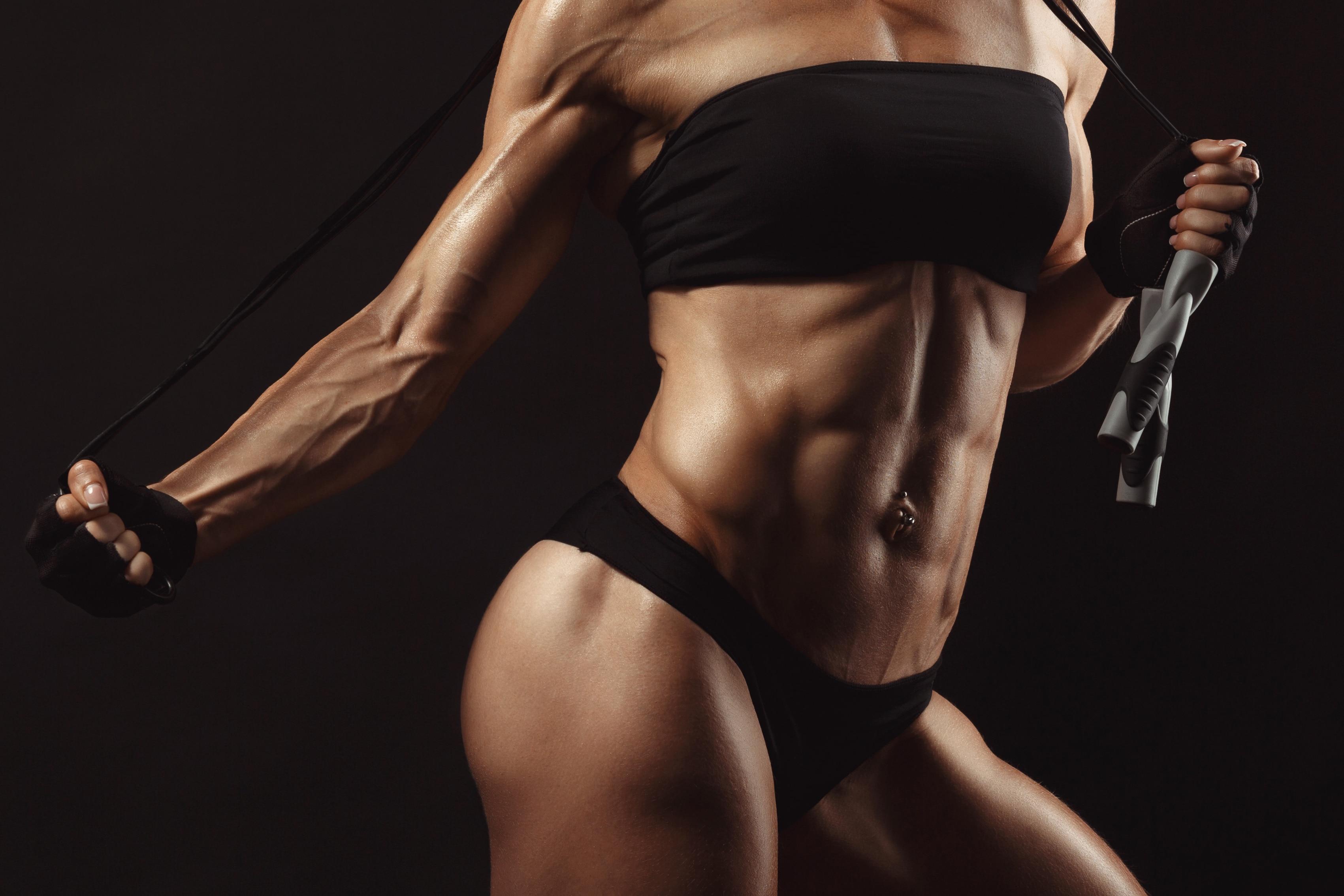 Female Bodybuilding Abs Bodybuilder Muscle Mass Living