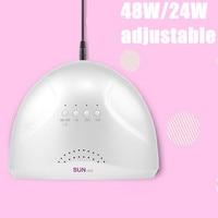 Luz do sol 48 w uv levou prego cura Secador de lâmpada para a cura de LED polonês 48 W Art Gel UV de cura LEVOU luz prego