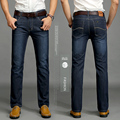 2016 New Mens Winter and Autumn  Dark blue Thick Jeans Men Demin Jeans Men Warm Pants Trousers