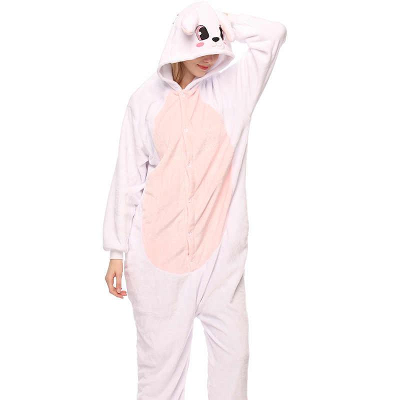 Дропшиппинг для взрослых высокого качества кролик кигуруми комбинезоны пижамы животных аниме мультфильм пижамы костюмы для косплея