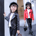 Kids Clothes Jackets for girls 2017 Spring Girls Coats and Jackets Children Clothing Fashion Girls Leather Jacket 3 Colors 3-15Y