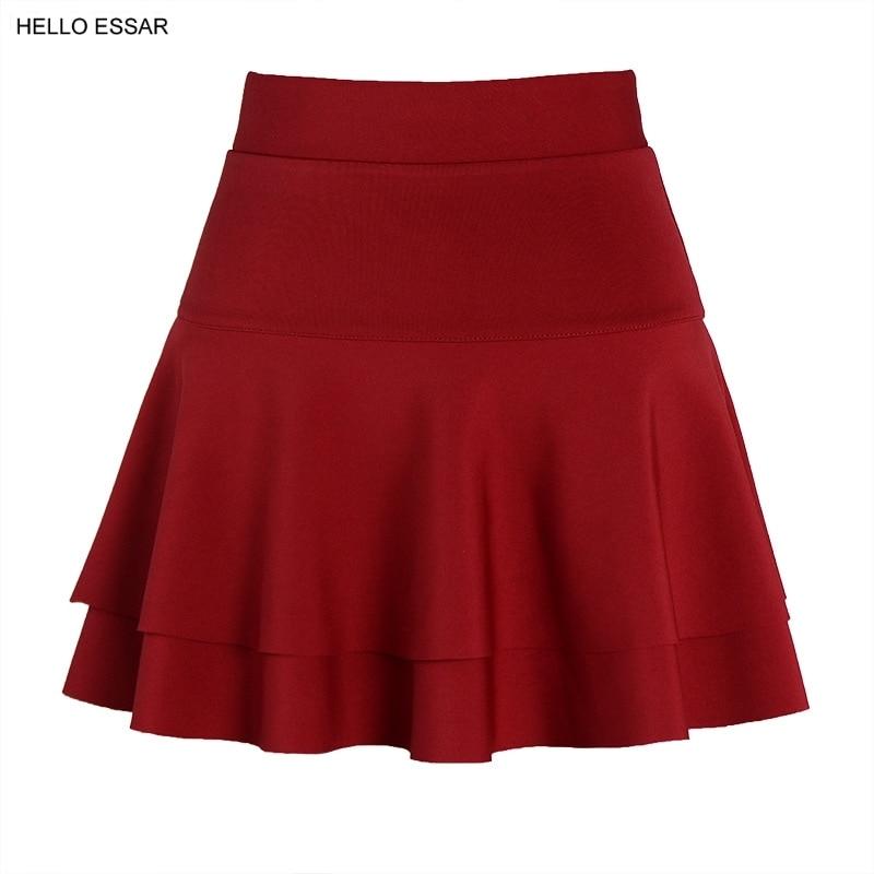 New sexy mini Skirt pants women elastic high waist large size A-Line dance skirt double A word anti light Skirt D3001