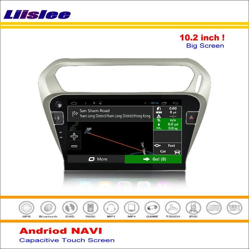 Système de Navigation GPS Android Liislee pour Peugeot 301/pour citroën c-elysee 2012 ~ 2016 Radio Audio multimédia sans lecteur DVD