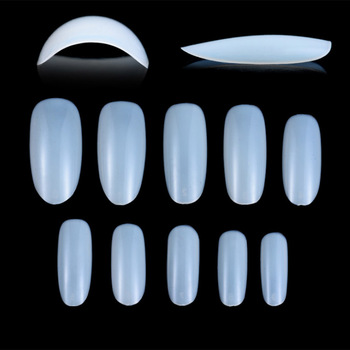 100Pcs Nail Art NaturalClear Round End Oval False Nails Fake Nails Tips Long French Manicure Artificial Nails Beauty Products Маникюр