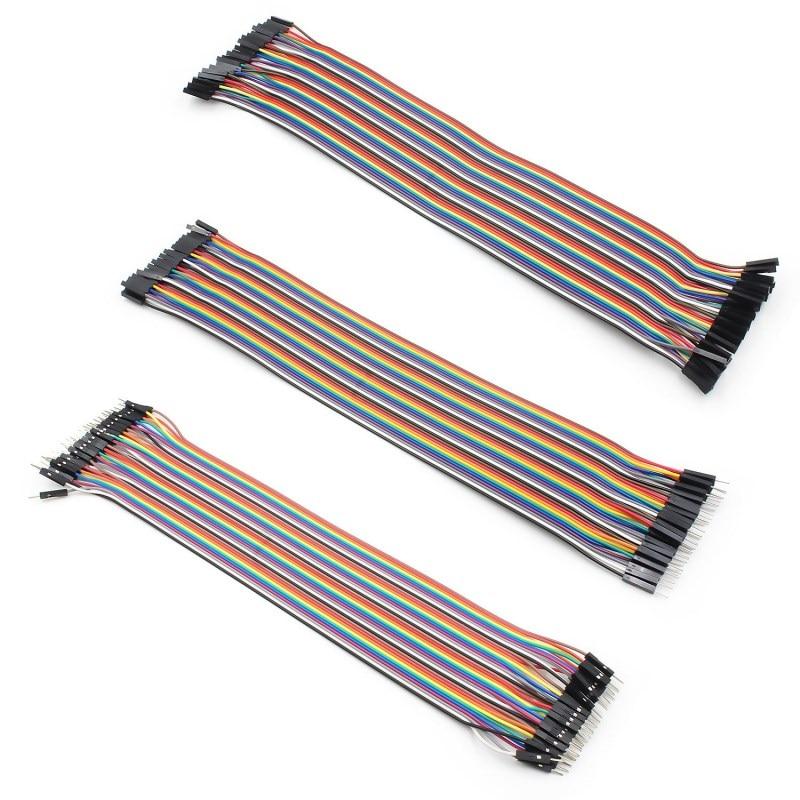 WAVGAT Dupont line 120 шт. 20 см мужской+ мужской женский и Женский Соединительный провод Dupont кабель для Arduino - Цвет: 20CMKIT