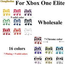 16 colors Bumper Triggers Buttons Plastic Chrome Joysticks Full Set D pad LB RB LT RT ABXY keys For Xbox One elite Controller недорого