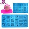 HOTSALE 3 UNIDS/LOTE Nail Art Placas Estampación Stamper Set Sello de Uñas Diseño de Uñas Plantilla de Impresión De Uñas Molde Stencil Herramientas de Uñas