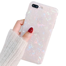 Oppselve Fashion Conch Shell Phone Case For iPhone 6S Apple X 6 7 8 Plus Back Cover Luxury Lovely Funny Coque