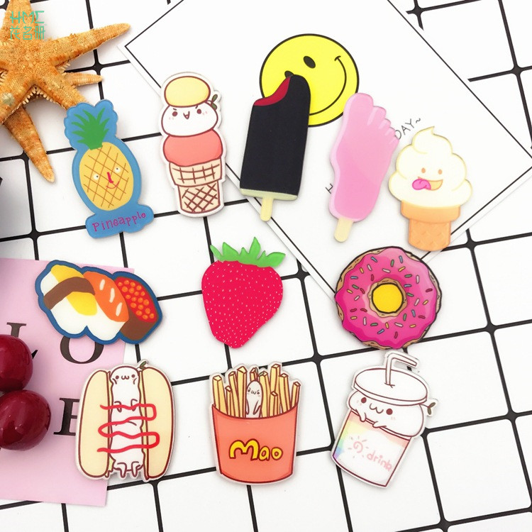 Lovely Cartoon Icons on The Pin Kawaii Icon Badge Bacges on Backpack Badges for Clothing Acrylic Badges