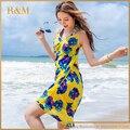 2016 Mulheres Sexy Bikini Cover Up Swimsuit Swimwear Beach Dress flor Pareo Beachwear Banho