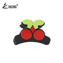 2018 New Fashion Acrylic Hair Claws Clips Hair Accessories Red Cherry Hair Hairpin For Woman Girls Fruit Pattern Hairpin Tiara hairpin lace entry tutorial crochet hairpin pattern style pattern daquan hand knitted practical stitch technique woven books