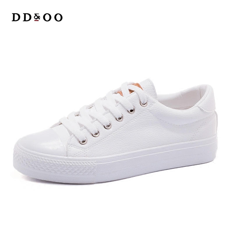 Free shipping 2017 autumn new fashion women shoes casual classic solid color PU leather shoes women casual white shoes sneakers free shipping candy color women garden shoes breathable women beach shoes hsa21