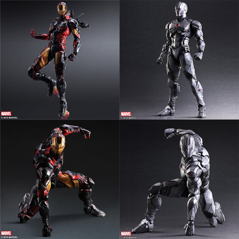 TOYS Iron Man Mark MK43 Play arts PLAYARTS KAI figma Superman Deadpool marvel Avengers joker PVC action Figure collectible Model marvel iron man mark 43 pvc action figure collectible model toy 7 18cm kt027