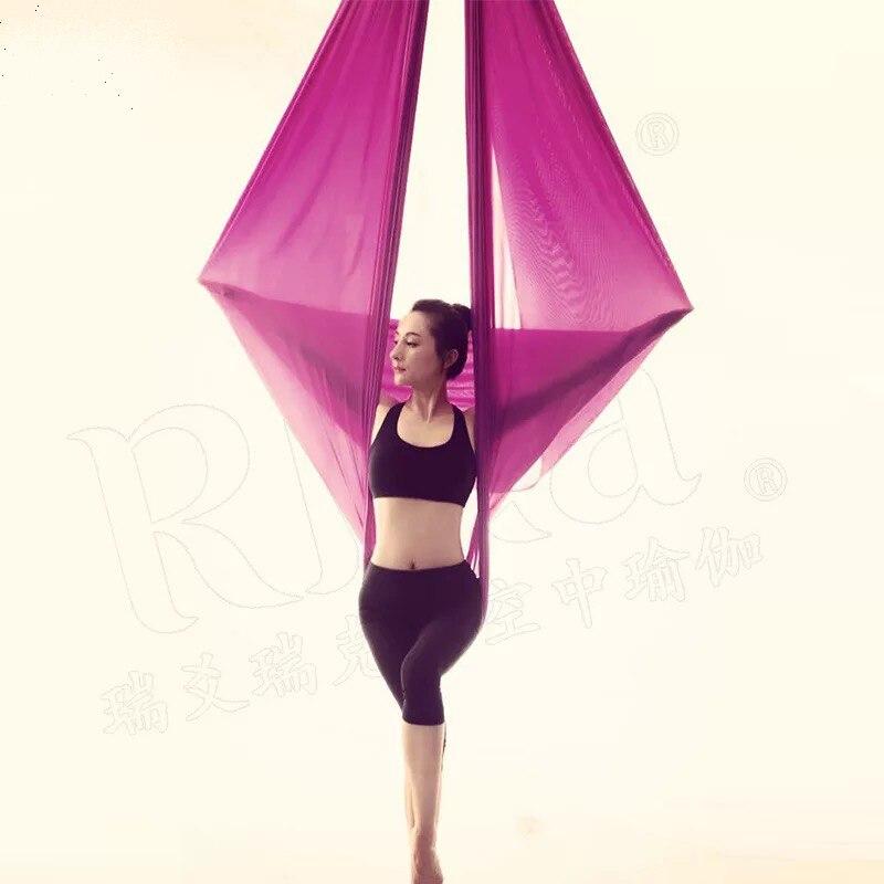 Élastique 5 mètres hamac de yoga aérien Swing Dernière Multifonction Anti-gravité yoga ceintures pour yoga formation yoga pour le sport
