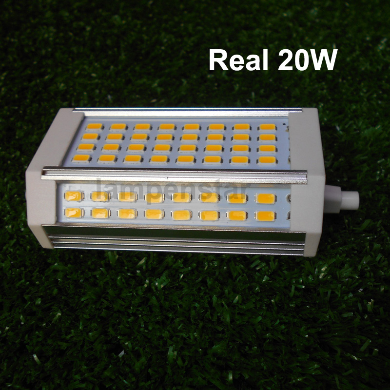 Buy 2017 lastest 20w r7s led lamp 2000lm 118mm without fan 85 265v ac epistar for R7s led 118mm 20w
