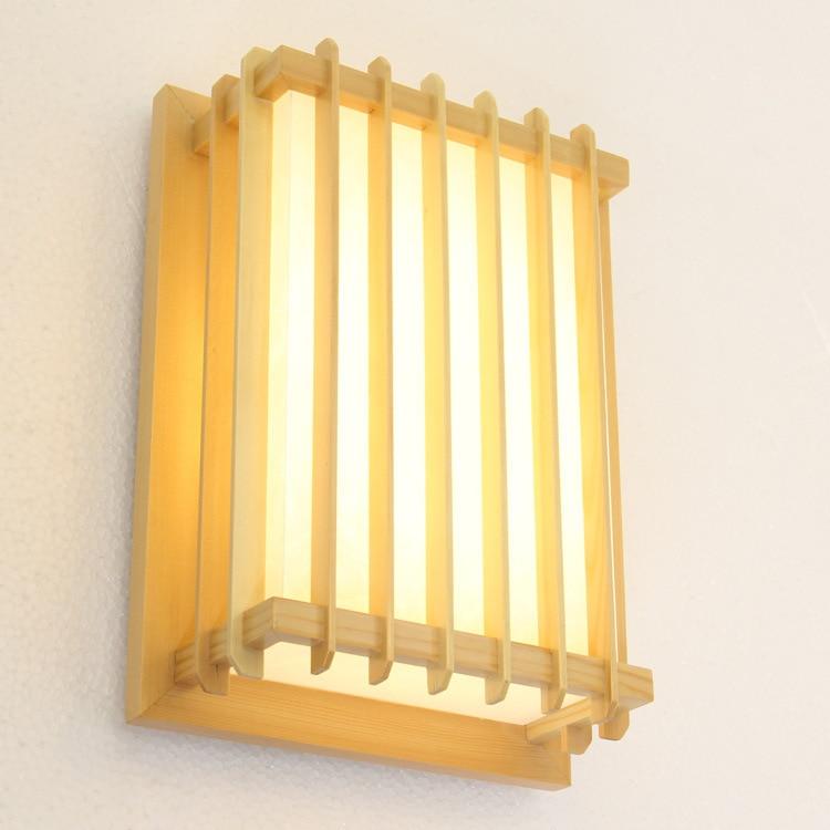 Japanese style Delicate Crafts Wooden Frame tatami led wall lamp luminarias para sala