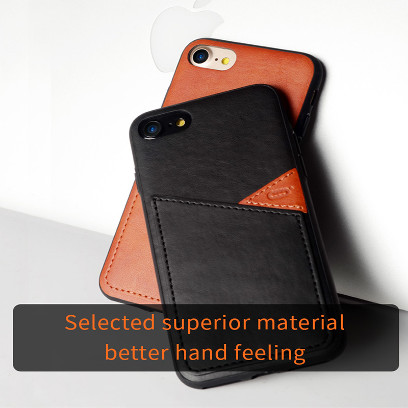 Luxury PU Leather Wallet Case For iPhone 7 Case Business Card ...