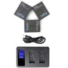 חדש דגי ליצן עבור Gopro hero 3 + 3 USB LCD כפולה יציאת מטען/100% מקורי סוללה/AHDBT 301 סוללה מטען אביזרי ספורט