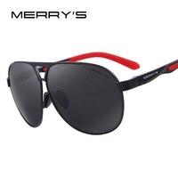 MERRY S Aluminum Polarized Men Sunglasses Classic Brand HD Sun Glasses EMI Defending Coating Lens Driving