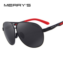 MERRY'S 2017 Top Quality Brand Designer Cool Polarized Mens Sunglasses Protect Accessories Sun Glasses For Men With Box S'8611