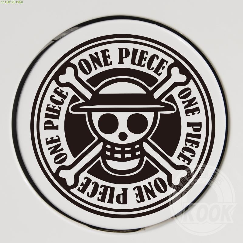 Cartoon Anime ONE PIECE Reflective Car Sticker Fuel Cap