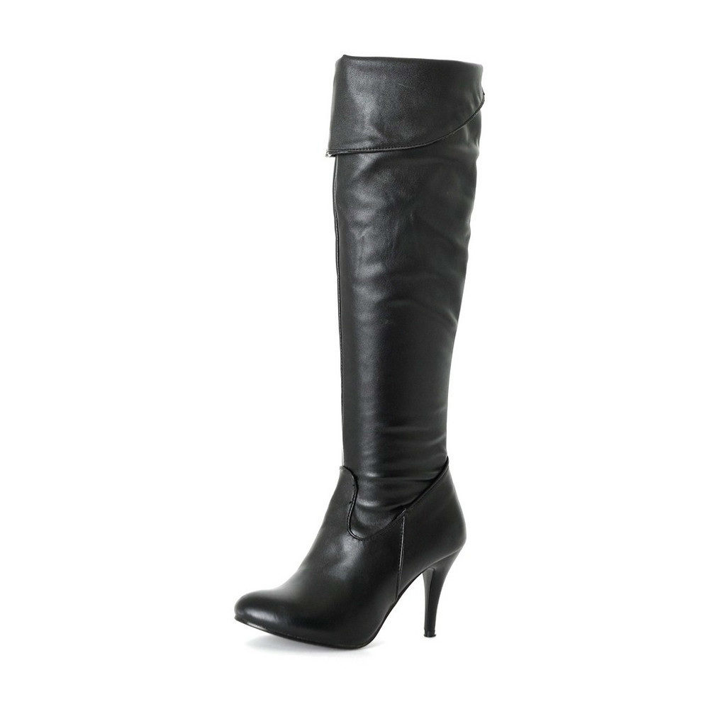 Meotina Women Boots High Heels Thigh High Boots Winter Sexy Over Knee Boots Ladies Autumn Shoes Black White Shoes Big size 10 43 armoire new sexy genuine leather black over the knee thigh high boots ladies nude shoes low heels leica aga20 big size 33 43 10