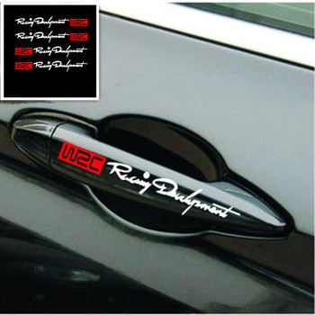 4pcs/set Door Handle Stickers And Decals FOR Chevrolet Cruze Aveo Captiva Lacetti Mitsubishi ASX Lancer Outlander Accessories image