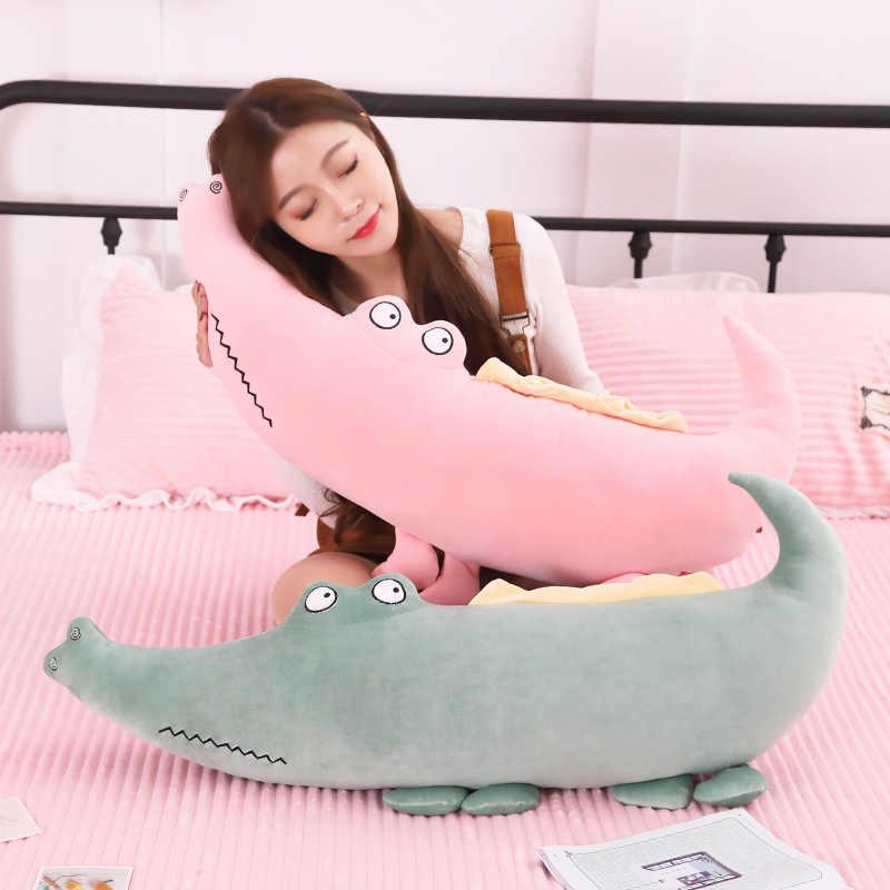 Não Novo Crocodilo Brinquedos De Pelúcia Animais de Pelúcia Macia Muito confortável Travesseiro Almofada de Pelúcia Boneca de Presente Decoração de Casa para As Crianças