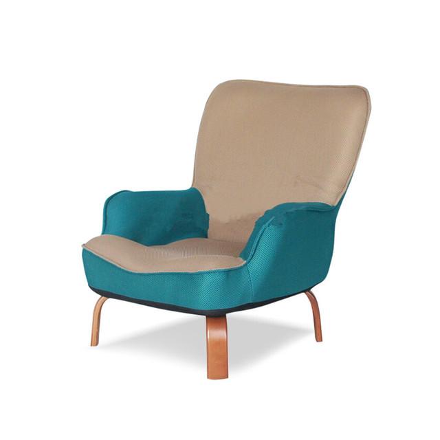 Japanese Baixo Poltrona Cadeira de Estofos Em Tecido De Malha Sala de estar Mobiliário Moderno Relaxar Cadeira de Acento Decorativo Ocasional Projeto