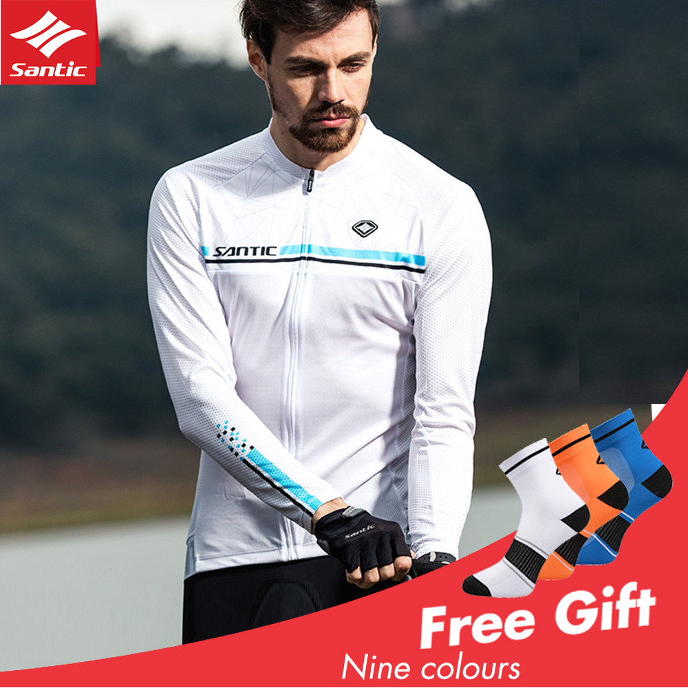 Mens Long Sleeve Cycling Jersey Mtb Road Bike Shirts Breathable Cycle Garment