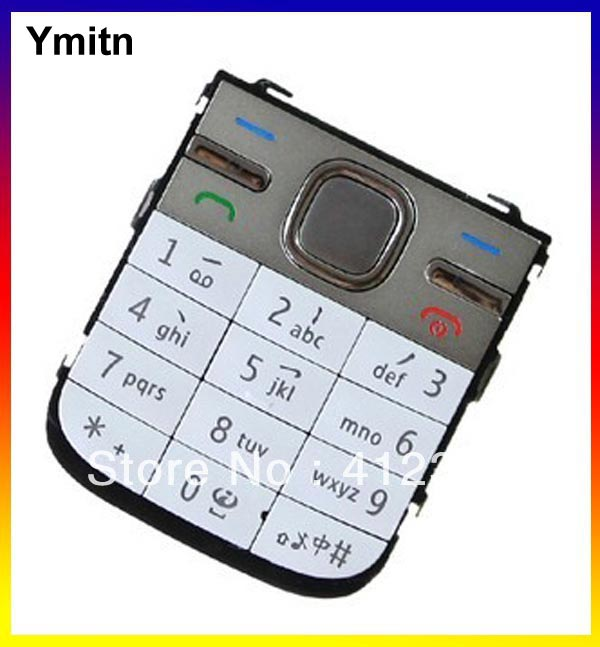 10pcs New Black/Silvery/Golden Ymitn <font><b>Housing</b></font> Home menu keypads button cover case For <font><b>NOKIA</b></font> <font><b>C5</b></font> Replacement image