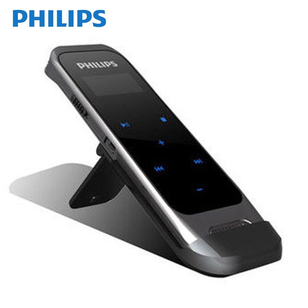 PHILIPS Original enregistreur vocal pour enregistrement sonore avec câble USB + microphone sans fil + écouteur + pochette + support + Guider VTR6600