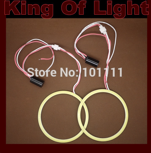 2X 70mm Angel Eye COB Halo Ring Halo Light Waterproof LED Lighting With 2 Lampshades free shipping