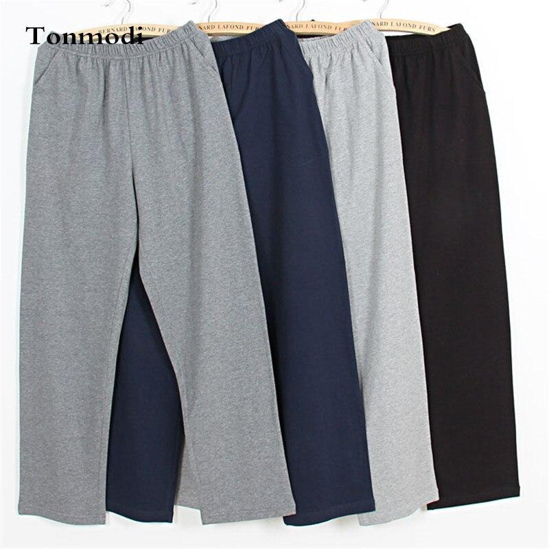 Men's Pants Sleep Trousers 100% Cotton Pajama Pants Casual Men's Sleep Lounge Sleep Bottoms