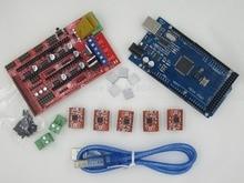 Mega 2560 R3 + 1pcs RAMPS 1.4 Controller + 5pcs A4988 Stepper Driver Module for 3D Printer kit Reprap MendelPrusa Free Shipping