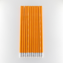 50 Pcs Yellow Wooden Pencils HB Pencil With Eraser Head School Student Stationery Kids Writing Painting Pencil office supplise цена